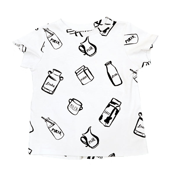 Milk Bottle Drop Back Tee (White)