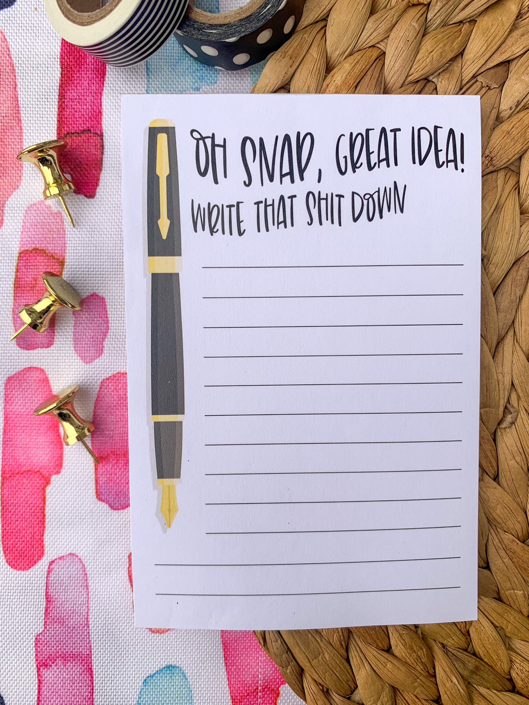 Oh Snap! Great Idea To-Do List Magnet Notepad