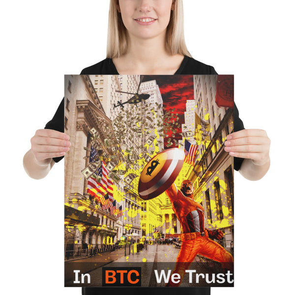In Bitcoin we trust (Leinwand-Bild/Canvas)