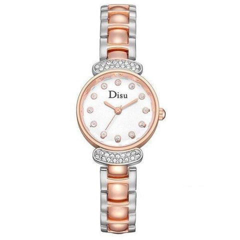 Ceas dama Disu Secret Garden argintiu, rose gold