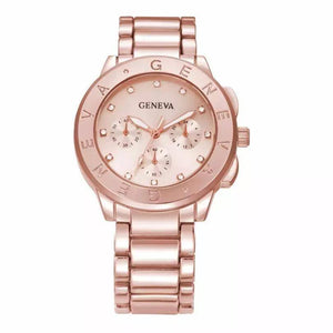 Ceas dama Geneva Sunrise rose gold
