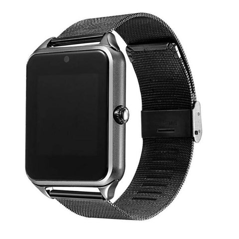 Smartwatch S631 cu Telefon, Curea Metalica, Touchscreen, BT, Camera, Notificari, Aluminiu, negru