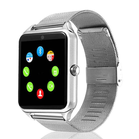 Smartwatch S633 cu Telefon, Curea Metalica, Touchscreen, BT, Camera, Notificari, Aluminiu, argintiu