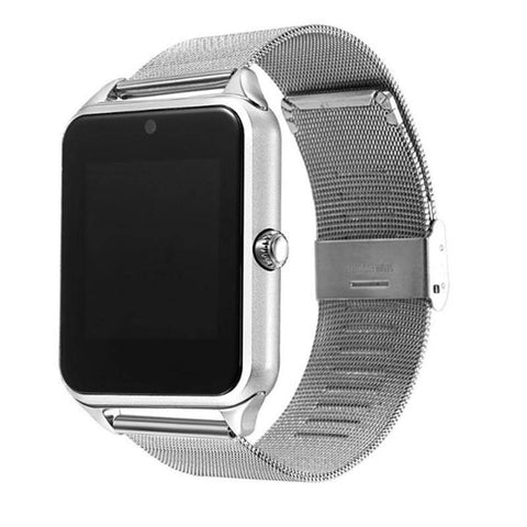 Image of Smartwatch S633 cu Telefon, Curea Metalica, Touchscreen, BT, Camera, Notificari, Aluminiu, argintiu - eSwiss.ro