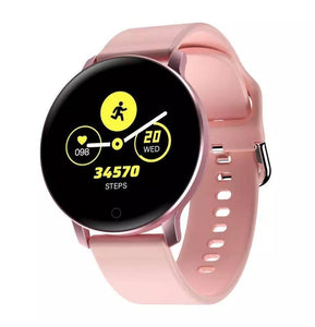 Smartwatch S529 Bluetooth, IP67, Fitness Tracker, Monitorizare ritm cardiac, Compatibilitate Android si iOS, Roz