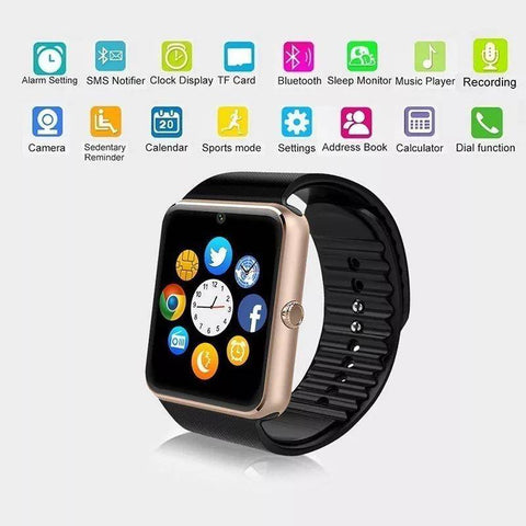 Smartwatch S570 Ecran Touchscreen, Bluetooth, SIM Notificari, Camera, Monitorizare somn, negru