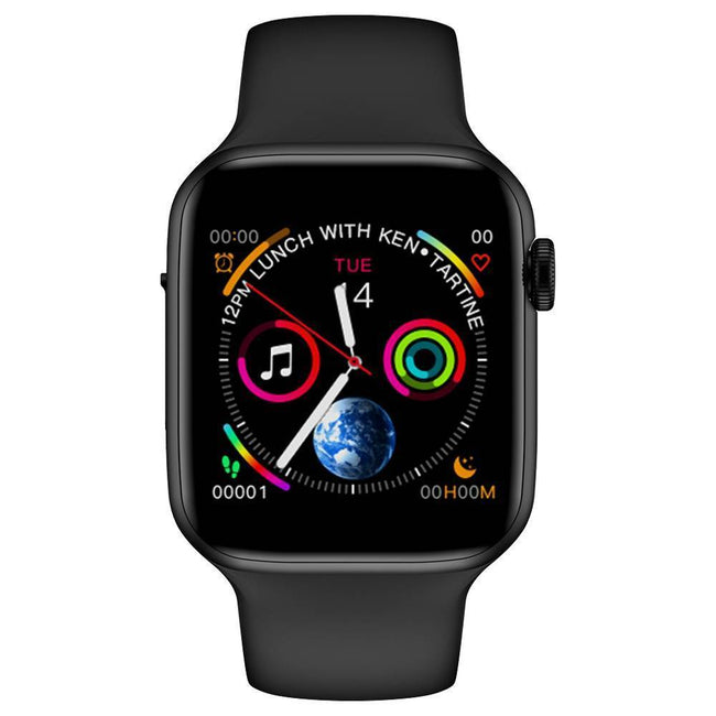 Smartwatch S588 Bluetooth, Ritm cardiac, Monitor EKG, Monitorizare fitness etc. negru - eSwiss.ro
