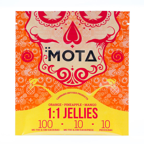 MOTA 1:1 Tropical Jellies 100mg THC+CBD