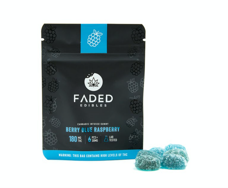 Faded Infused Edibles - Berry Blue Raspberry THC 180mg