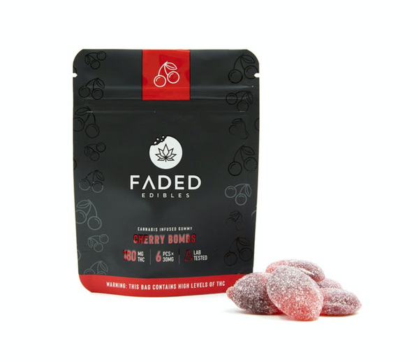 Faded Infused Edibles - Cherry Bombs THC 180mg
