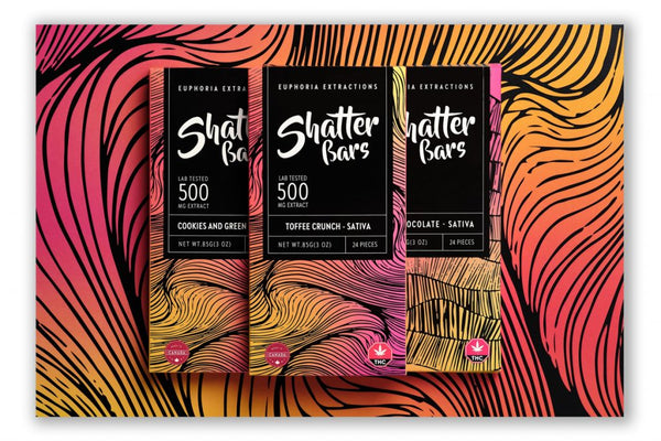 Euphoria Extractions Shatter Bar 500mg (Sativa)