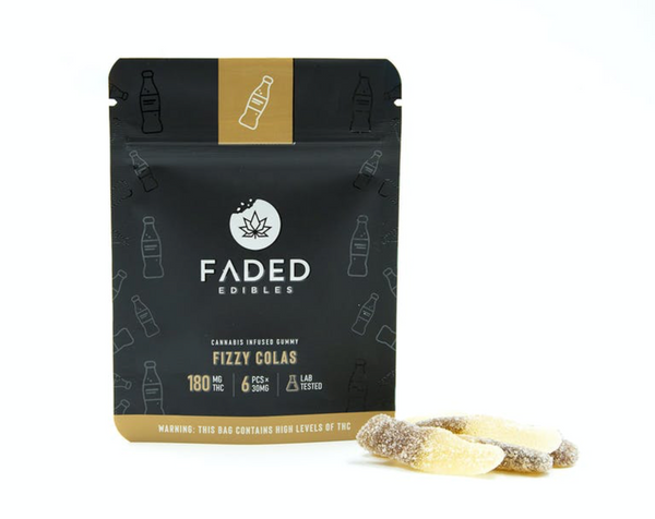 Faded Infused Edibles - Fizzy Colas THC 180mg