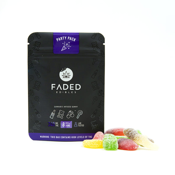 Faded Infused Edibles - Party Pack THC 240mg