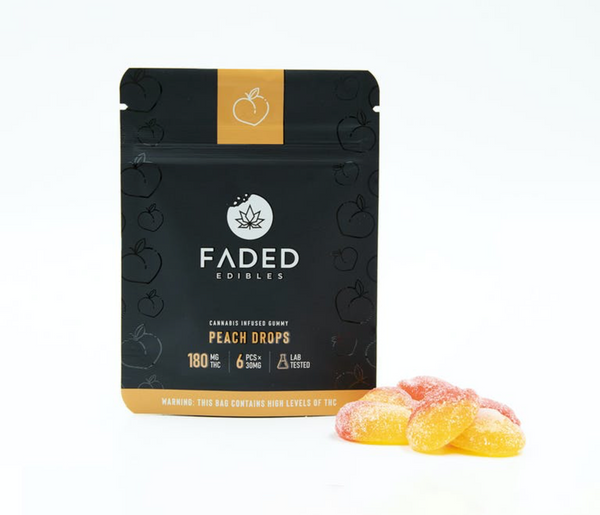 Faded Infused Edibles - Peach Drops THC 180mg