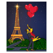 Custom romantic simpson portrait valentine day gift paris