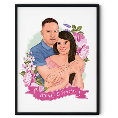 Couple Draw Portrait