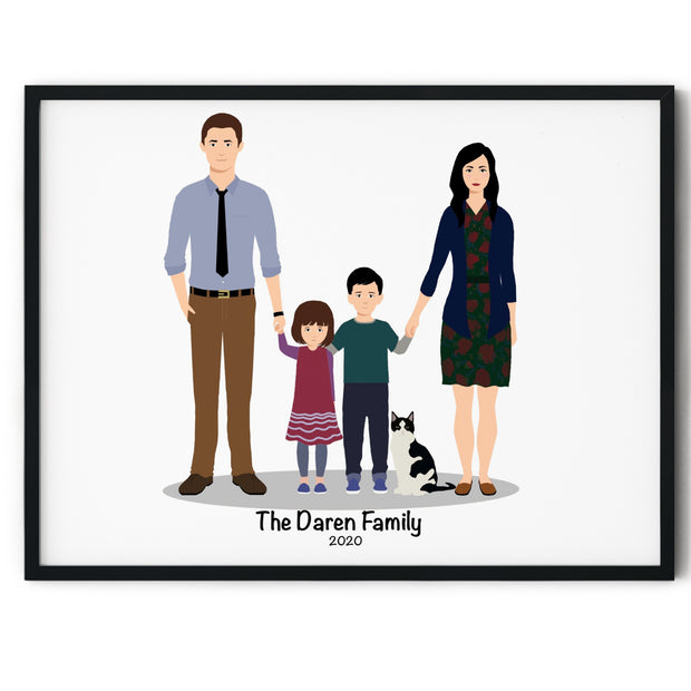 Family Digital Illustration