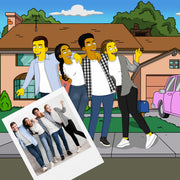 Friends turned into simpson gift