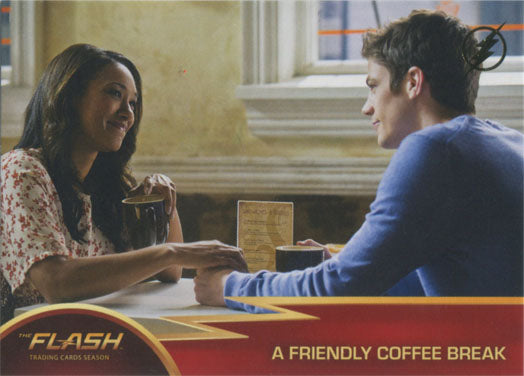 Flash Season 1 Gold Logo Parallel Chase Card #34 A Friendly Coffee Break | Digital Heroes