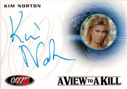 James Bond 50th Series Two Autograph Card A167 Kim Norton as Zorin Party Guest | Digital Heroes