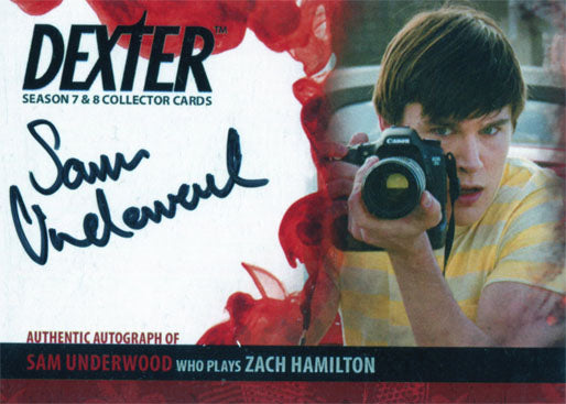 Dexter Seasons 7 & 8 Autograph Card ASU2 Sam Underwood as Zach Hamilton | Digital Heroes