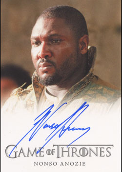 Game of Thrones Season Two Autograph Card Nonso Anozie as Xaro Xhoan Daxos | Digital Heroes