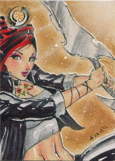 Grimm Universe 5finity 2018 Sketch Card by Israel Arteaga | Digital Heroes