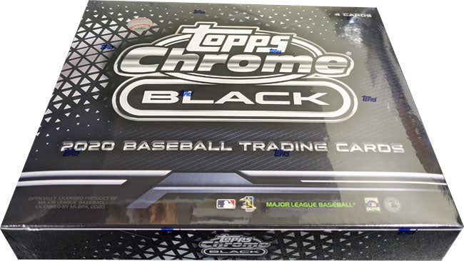Topps 2020 Chrome Black Baseball Factory Sealed Hobby Box | Digital Heroes