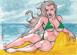 Female Persuasion 3 Sketch Card by Roy Cover of Beach Girl V2 | Digital Heroes