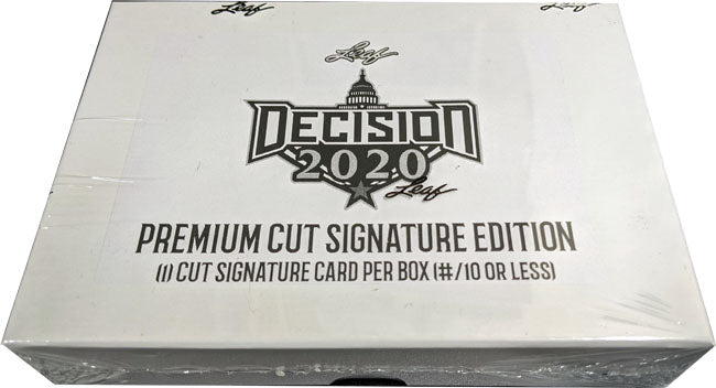 Decision 2020 Election Political Cut Signature 1/1 Factory Sealed Trading Card Box | Digital Heroes