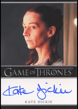 Game of Thrones Season Two Autograph Card Kate Dickie as Lysa Arryn | Digital Heroes