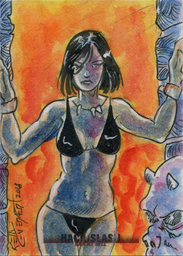 Hack/Slash Bad As Hell 5finity 2019 Sketch Card by Kelly Everaert | Digital Heroes