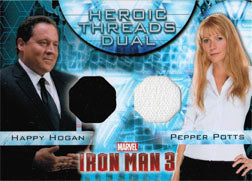 Iron Man 3 Movie Costume Memorabilia HTD-16 Happy Hogan & Pepper Potts | Digital Heroes