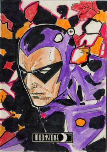 DH 2017 5finity Moonstone Maximum Sketch Card by Jesus Antonio Hernandez | Digital Heroes