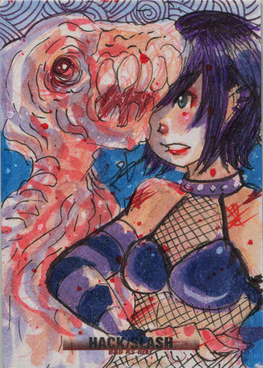 Hack/Slash Bad As Hell 5finity 2019 Sketch Card by Luro Hersal | Digital Heroes