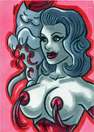 DH 5FUNity Sketch Card by Erica Hesse of Kitty Ditties & Pretty Ladies V1 | Digital Heroes