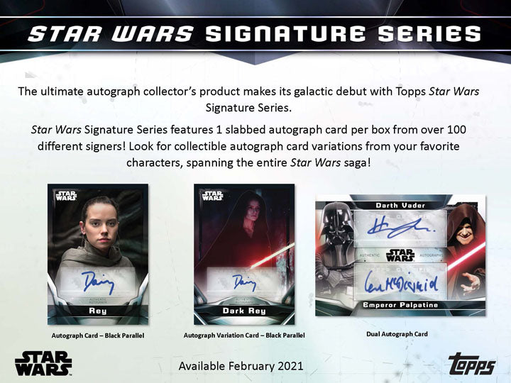 2021 Topps Star Wars Signature Series Hobby Factory Sealed Trading Card Box | Digital Heroes