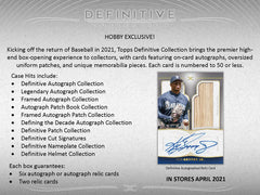 Topps 2021 Definitive Baseball Factory Sealed Trading Card Hobby Box | Digital Heroes