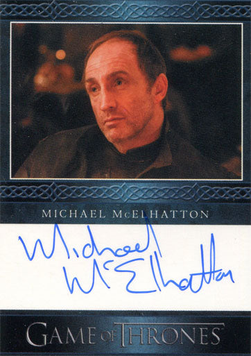 Game of Thrones Season 4 Autograph Card Michael McElhatton as Roose Bolton | Digital Heroes