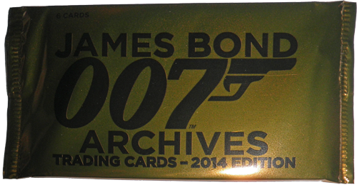 James Bond Archives 2014 Factory Sealed Trading Card Pack of 6 Cards | Digital Heroes