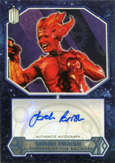 Doctor Who 2015 Autograph Sarah Parish as Empress of Racnoss Blue Parallel #13 | Digital Heroes