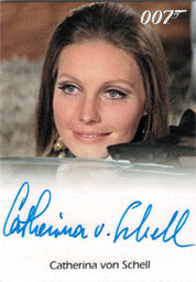 James Bond 50th Anniversary Series 1 Autograph Card by Catherina von Schell | Digital Heroes