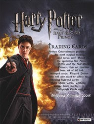 Harry Potter and the Half-Blood Prince Trading Card Sell Sheet | Digital Heroes