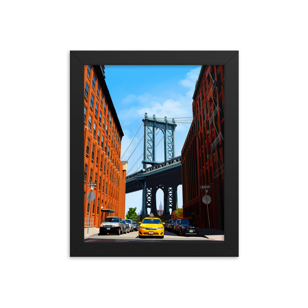 DUMBO Brooklyn Framed Art Print