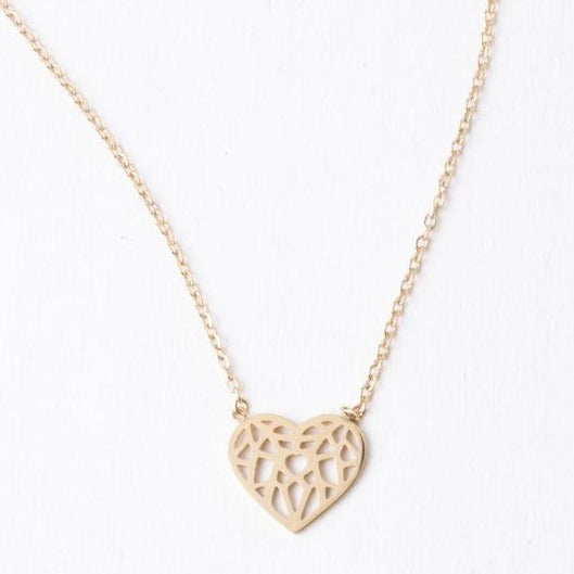 Ling Gold Heart Necklace