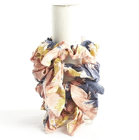 Individual Printed Cotton Scrunchie (Multiple Colors)