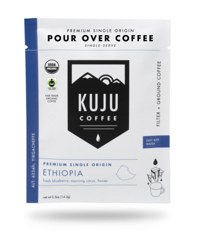 Ethiopia Pour Over Coffee - Single Serving