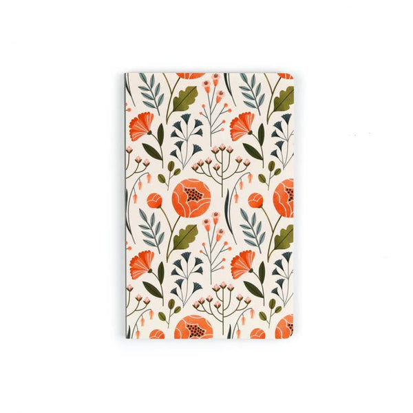 Flowers Layflat Notebook - Lined