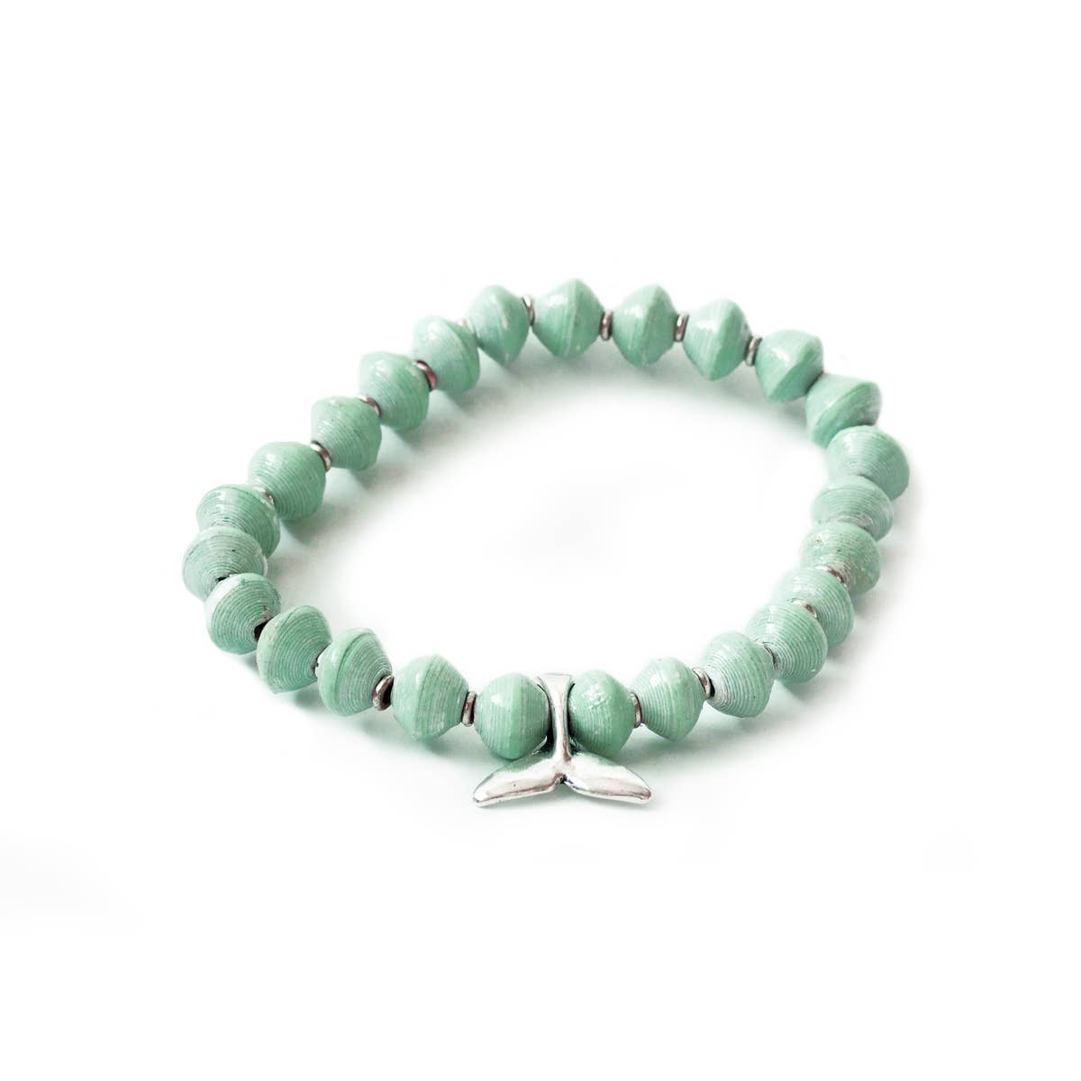 Sea Foam Green Whale Bracelet