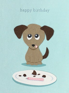 Happy Puppy Birthday Card